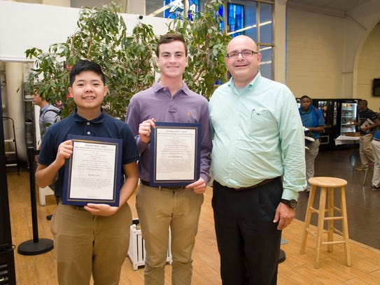 Left to right: Daniel Cao, class of 20, Luke Morrison,