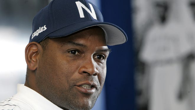 Former Major League Baseball All-Star Tim Raines is introduced  as the new manager of the Newark Bears minor league baseball team in 2009. In 2000,  Raines played seven games for the Somerset Patriots.