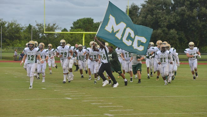 Melbourne Central Catholic visited Cocoa Beach on Friday night.