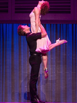 "Lift-off: Christopher Tierney and Gillian Abbott star in the current national tour of ""Dirty Dancing,"" which opens Sept. 15 at the Des Moines Civic Center."