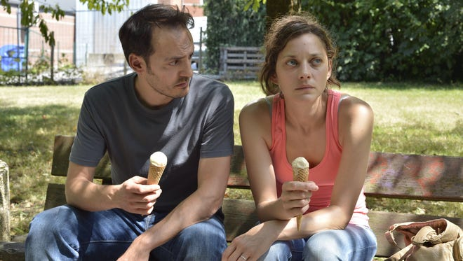 """Fabrizio Rongione and Marion Cotillard in """"Two Days, One Night."""""""