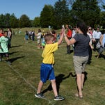 Third and fourth grade students attending Richmond schools participate in the Boston Run Thursday, Sept. 24, 2015 at Glen Miller Park.