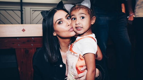 Kim Kardashian and Kayne West's daughter, North West.