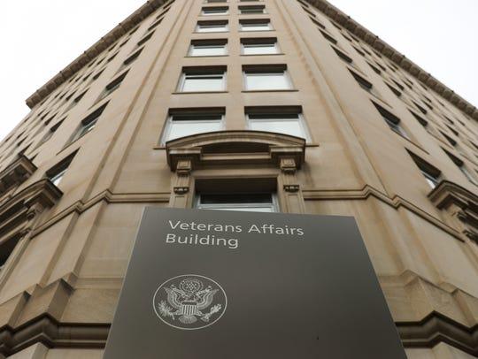 Veteran Affairs building near the White House in Washington,