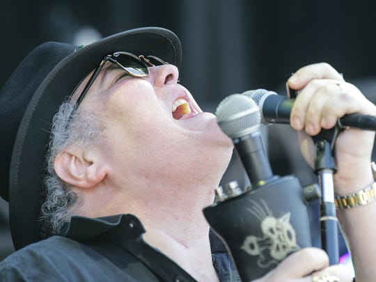 John Popper and Blues Traveler perform during Miller Lite Carb Day at Indianapolis Motor Speedway on Friday, May 25, 2018.