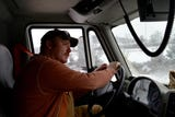Virginia Department of Transportation worker Will Hamblet started his 12-hour shift at 8 a.m. on Monday, Feb. 15, 2016. His job is to clear five miles of Interstate 81 between Mint Springs and Greenville. In his shift, he plowed nearly 300 miles total.