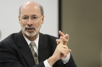 Gov. Tom Wolf answered questions at the York Daily Record ahead of the Nov. 6 election in which he faces a challenge from Scott Wagner.