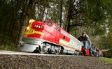Miniature railroad is open to the public April through October the second and fourth Saturdays of each month at South Kitsap Regional Park