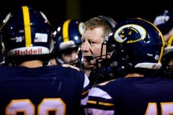 DeWitt coach Rob Zimmerman discusses his team after a 49-7 win over Holt last week and looks ahead to its big game against East Lansing