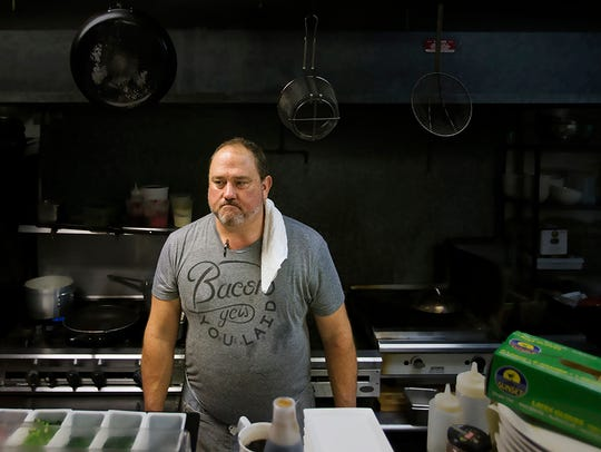 """I'm going to miss her terribly and am a little lost,"" says Harold Balink of his wife, Julie, who died from ovarian cancer on Oct. 19. Balink, a renowned chef, spends most of his time now at Harold's, his restaurant in south Fort Myers."
