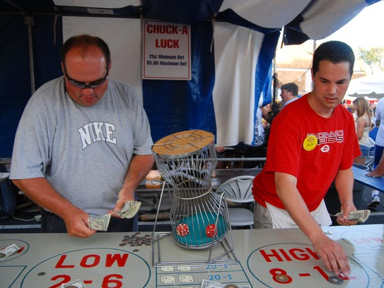 Games of chance are popular at church festivals, but