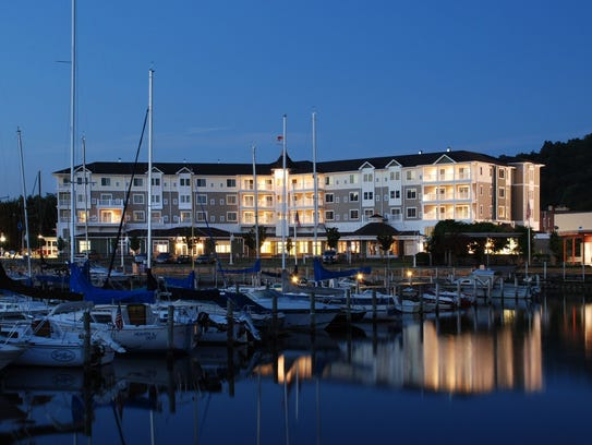 The Watkins Glen Harbor Hotel and Seneca Lake waterfront