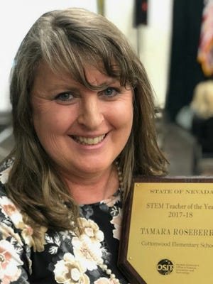 Tammy Roseberry was named the Northern Nevada Elementary STEM teacher of the year.