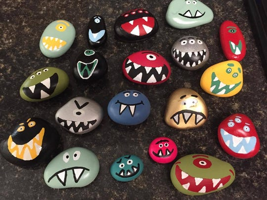 tallahassee rocks locals brighten parks with painted rocks