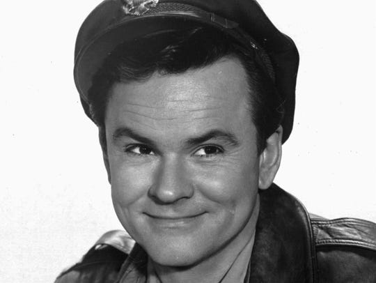 Actor Bob Crane, shown in character in 1965 as Col. Robert Hogan from 'Hogan's Heroes.'
