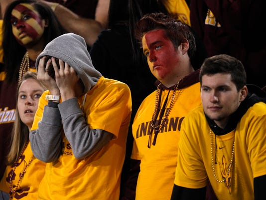 asu fans face paint
