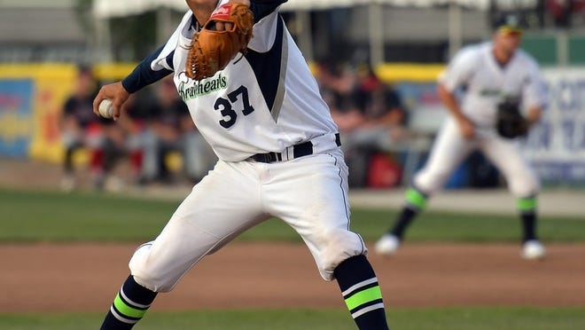 Eric Chavarria hurled five strong innings for the Bravehearts in their 9-2 victory over the Silver Knights in Nashua.