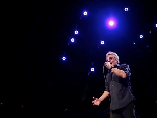 The Who vocalist Roger Daltrey performs at Joe Louis