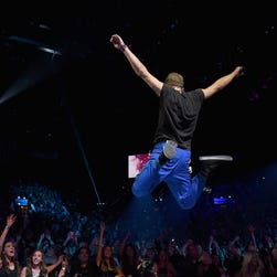Chris Martin and Coldplay perform at this year's iHeartRadio Music Festival in Las Vegas.