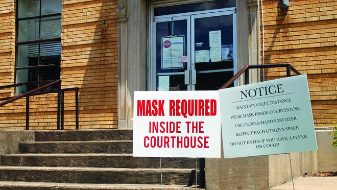 Logan County Judge Ray Gack said last week the mask mandate inside the Logan County Courthouse in Booneville will be in force for early voting.