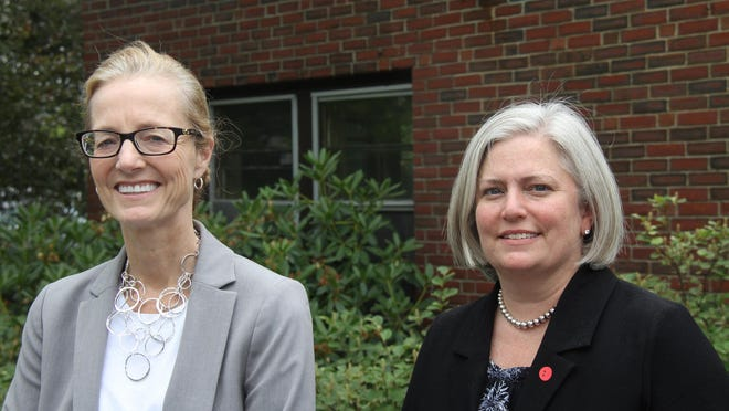 Robin LaBonte, left, York Hospital's interim CEO and Dr. Jennifer Cutts, chief medical officer, attribute the low COVID-19 infection rate in southern Maine, in part to responsible public health practices by the public. They are carefully watching the impact the arrival of summer tourism has on public health.
