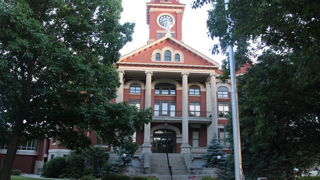 The Butler County Courthouse, which was home to a very uneventful night despite the rumors running rampant on Wednesday, June 3 in El Dorado, Kansas.