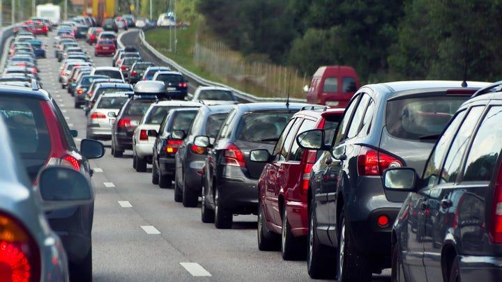 A long traffic jam.