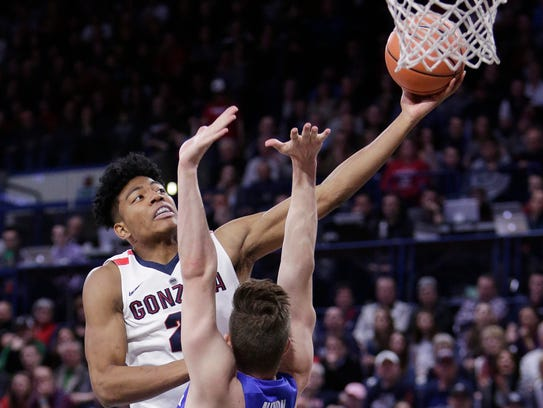 Rui Hachimura, a sophomore forward from Japan who played