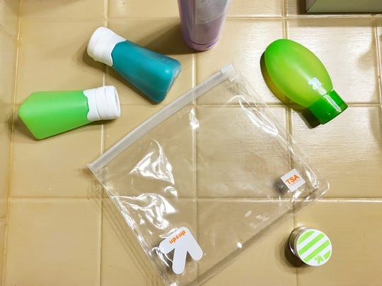 When you pack for a flight, invest in a reusable clear bag and durable, reusable containers for your carry-on liquids.