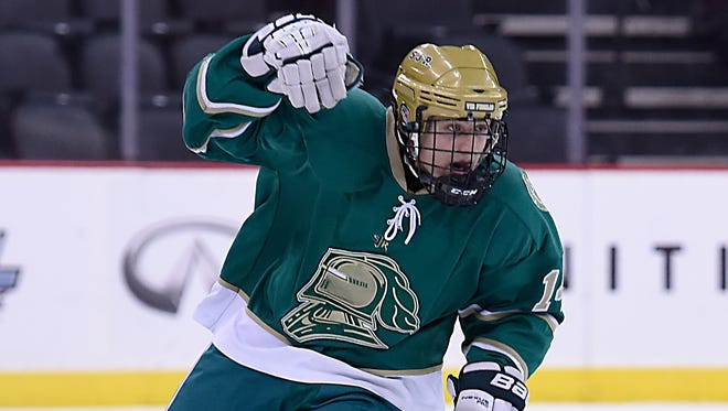 St. Joseph's Dominick Posta's goal Friday night proved to be the game-winner as the Green Knights improved to 13-4 with a 3-2 win over Indian Hills (11-4-2).