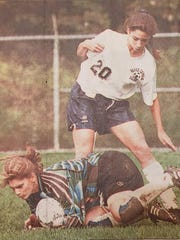DeAnna Stark during her playing days for Morris Catholic