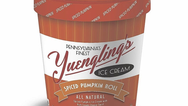The Spiced Pumpkin Roll from Yuengling's Ice Cream features a cream cheese swirl.