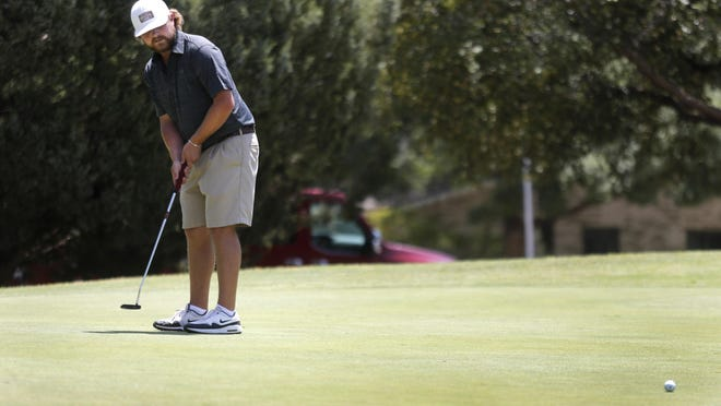 Former Frenship golfer Ty Houtchens strokes a putt during last year's LakeRidge Stampede golf tournament. Houtchens and Jakob Mikel are defending champions of the Reese Memorial Day Partnership, which unfolds Saturday, Sunday and Monday at Reese Golf Center.