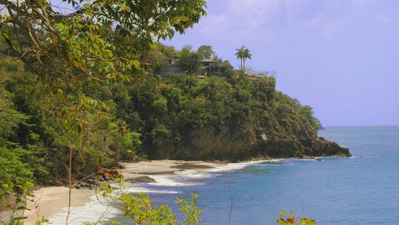 A cove at Woodlands Beach on the island of Montserrat.