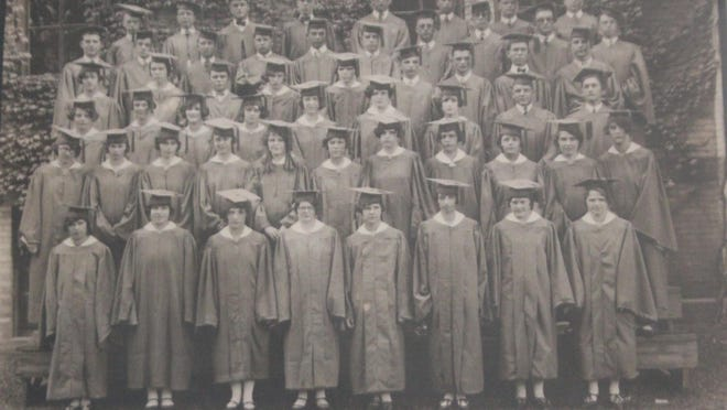 This week's photo is of the IHS Class of 1925. A member of that class, Doris Phillips, was a member of the Presbyterian church and taught Sunday School. She enrolled in the Ionia County Normal to become certified to teach and had been assigned to a school north of Muir for the next year. She was a favorite not only in the circles in which she worked, but was universally loved by those older and younger than she. The Sentinel reports that Doris died at the home of her parents on Yeomans street following an illness of six days of scarlet fever. Her burial took place in Oak Hill cemetery. Doris Phillips and all the alumni who have graduated from Ionia High School since that first class in 1871 remain dear to the hearts of those who come after them and the IHS Alumni Association is grateful to those who share stories and pictures in memory of our fellow students and Bulldogs.