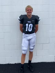 Gavin Myers is a sophomore kicker/punter for Lakota East High School and will wear No. 10 in the 2017 football season.