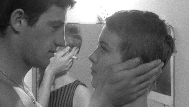 Jean-Paul Belmondo and Jean Seberg in director Jean-Luc Godard's classic film 'Breathless.'