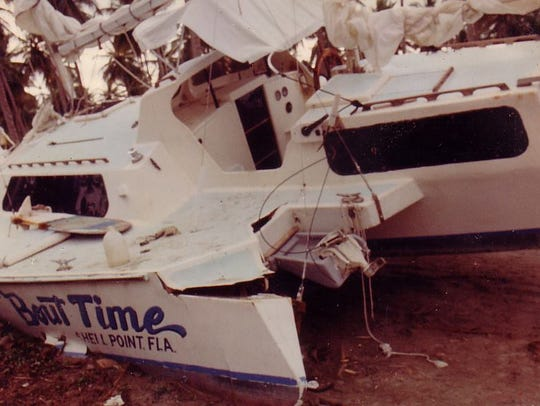 Mike Ferrara rode out the 1993 hurricane in his boat,