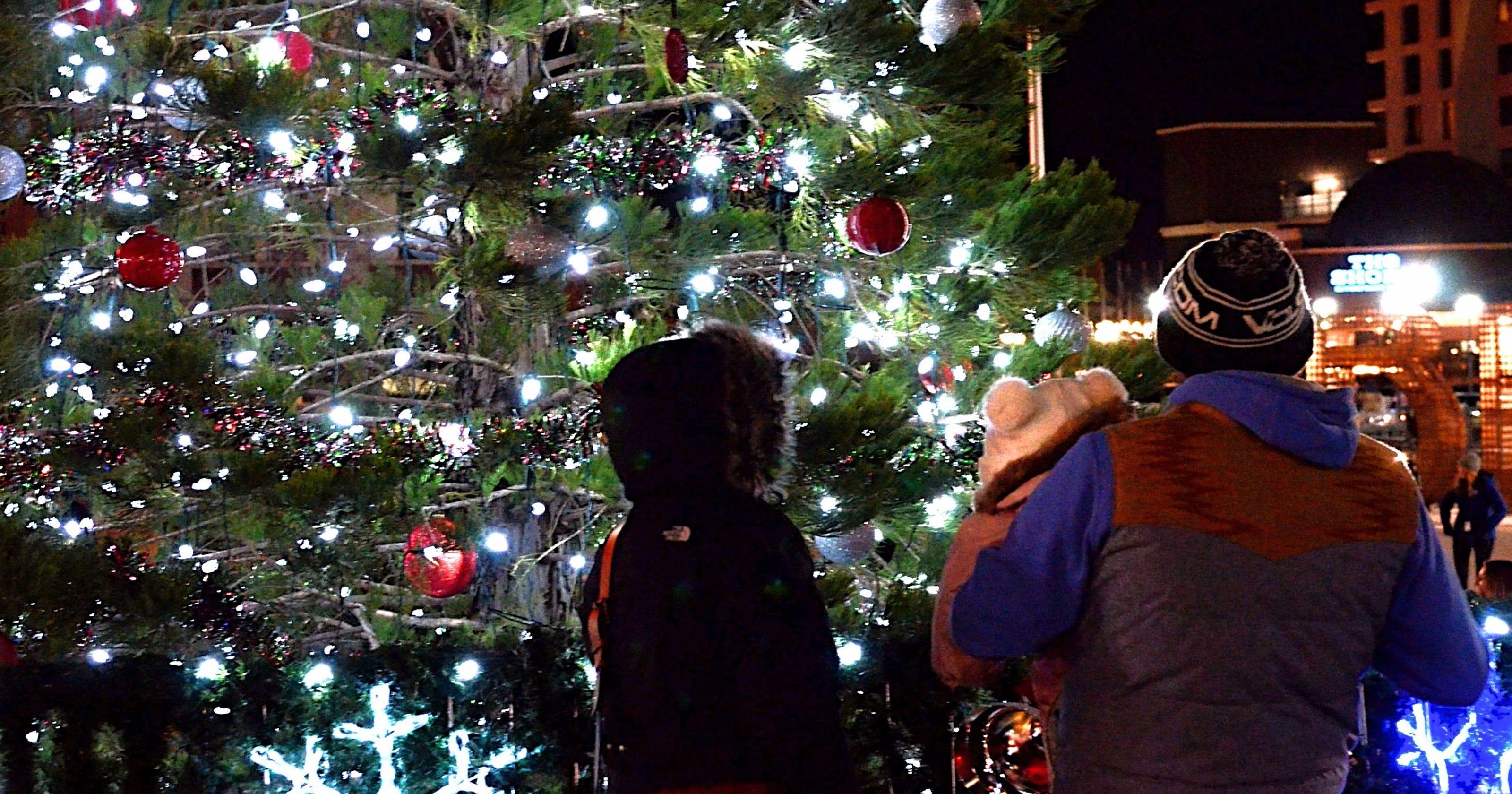 Watch: Reno Christmas Tree Lights Up Downtown