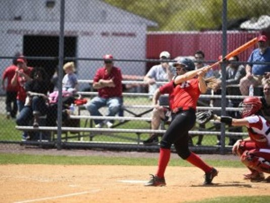 Lincroft native Jackie Bates holds the Rutgers softball records for home runs in a season and a career.(Photo: Alex Goodlett/Courtesy of Rutgers athletics)