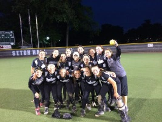 Bridgewater-Raritan celebrates program's first-ever trip to state finals after topping Ridgewood 2-0 at Seton Hall (photo courtesy of Pat Cahill)