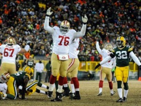 Former Rutgers and Piscataway High School star Anthony Davis (76) announced his plans to take some time off from the NFL and the San Francisco 49ers.(Photo: Benny Sieu-USA TODAY Sports)