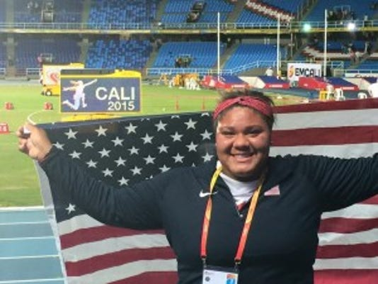 Nickolette Dunbar of Whippany competed at the World Youth Games in Cali, Colombia.  Photo courtesy of the Dunbar family
