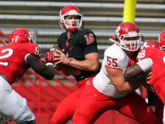 Former Rutgers quarterback Mike Bimonte announced that he is transferring to Monmouth.(Photo: MARK R. SULLIVAN/STAFF PHOTOGRAPHER)