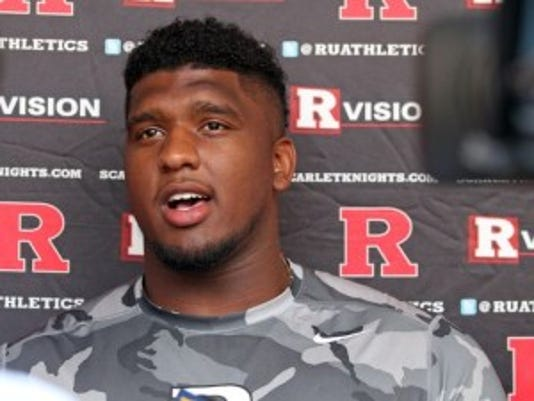 Defensive lineman Darius Hamilton is listed as limited on the Rutgers football injury report.(Photo: Kathy Johnson/Staff Photographer)