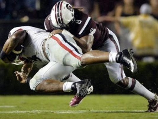 Rutgers welcomed linebacker Kaiwan Lewis, a South Carolina transfer, into practice Tuesday.(Photo: The Greeneville News)