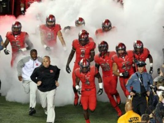 Under-investigation Rutgers coach Kyle Flood expects to lead his team out of the tunnel Saturday against Norfolk State.(Photo: Mark R. Sullivan/Gannett)