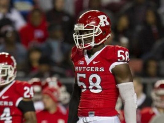 Rutgers defensive end Kemoko Turay hasn't started a game in college yet but is being hyped for the NFL Draft.(Photo: Doug Hood/Gannett)