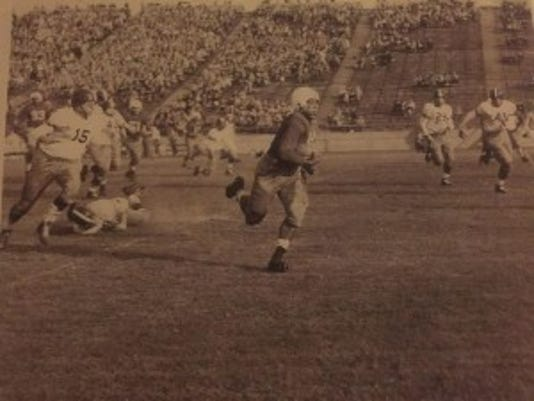 Rutgers running back Harvey Grimsley scored 28 rushing touchdowns from 1946-49.  Courtesy of Harvey Grimsley