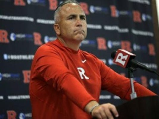 Rutgers coach Kyle Flood has been under investigation by the school for four weeks.(Photo: AP)